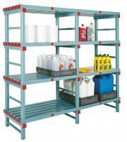 Kunststoff Regale, Bänke und Garderoben