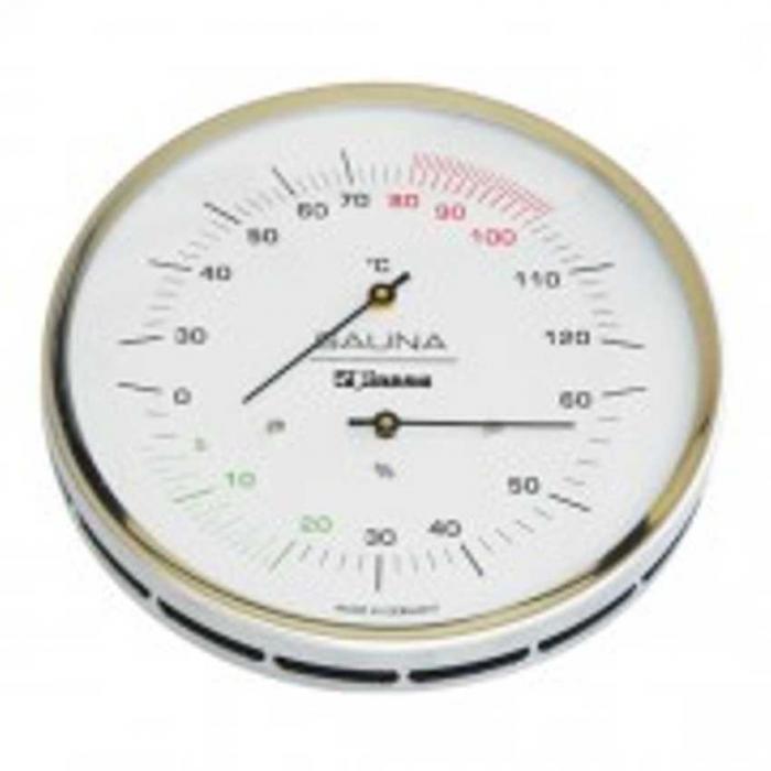 Sauna-Hygrotherm 130 mm Skala und Anschraubflansch
