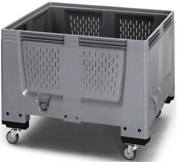 Kunststoff-Aufbewahrungs-Container mit Rädern 120 x 93 x 100 cm