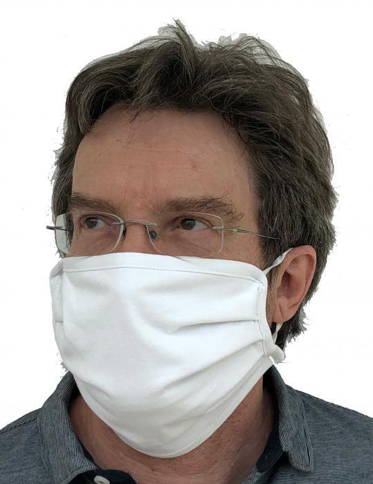 Gesichtsmasken aus Baumwolle weiß 3er Packung