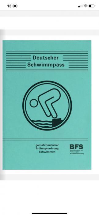 Deutscher Schwimmpass Urkunde NEU