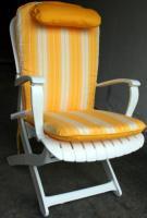 Sitz- und Lehnkissen Tangor gelb/weiß